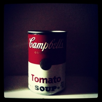 Campbells tomato soup can real andy warhol
